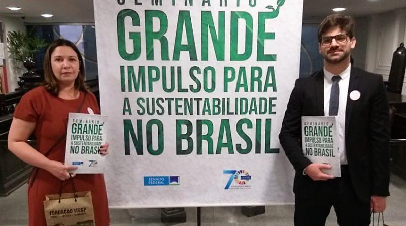 """Fundação Itesp participa em Brasília do seminário """"Grande Impulso para a sustentabilidade no Brasil"""""""